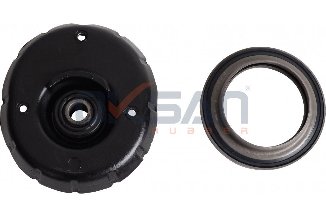 Shock absorber mounting, with bearing